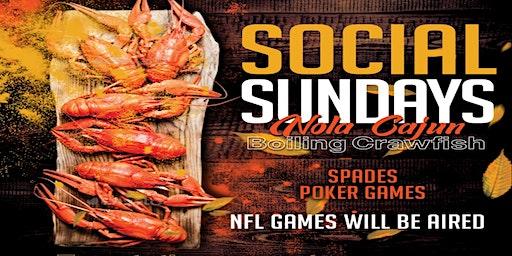 Temptations Social Sundays with Crawfish