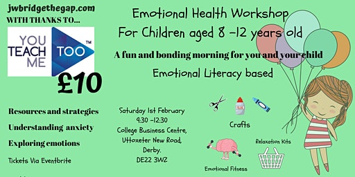 Emotional Health Workshop for Children aged 7-12 years