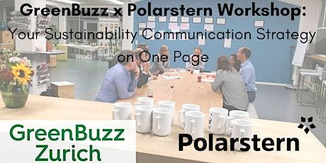 GreenBuzz x Polarstern Workshop: Your Sustainability Communication Strategy on One Single Page tickets