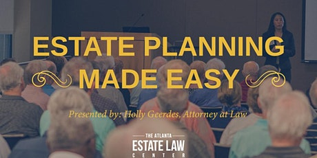 Estate Planning Made Easy: Wills, Trusts, & Asset Protection tickets