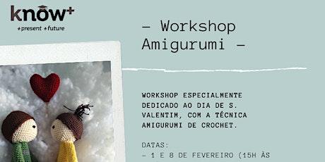 Workshop de Amigurumi bilhetes