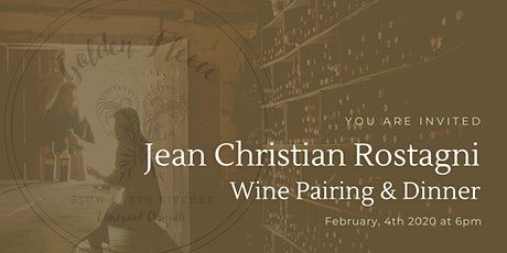 Wine Pairing Dinner with Jean Christian Rostagni tickets