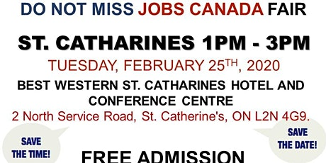 St. Catharines Job Fair – February 25th, 2020 tickets