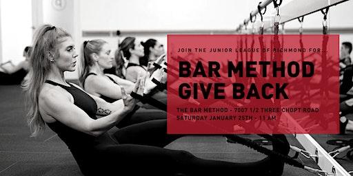 Junior League of Richmond Bar Method Give Back Event