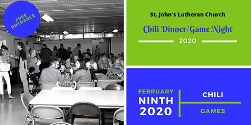 WINNER, WINNER, CHILI DINNER - Chili Supper/GAME Night at St. John's