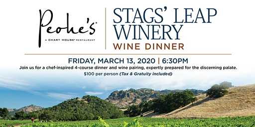 Peohe's Stags' Leap Winery Wine Dinner- Coronado, CA