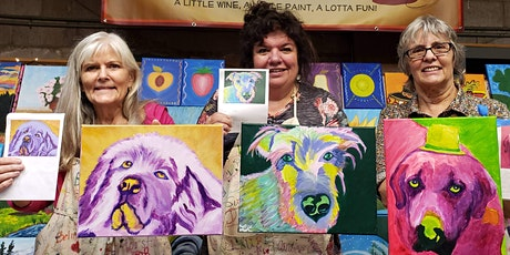 POP ART Pets Paint Party at Brush & Cork (REGISTRATION DEADLINE: Feb. 20th) tickets