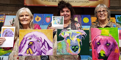 POP ART Pets Paint Party at Brush & Cork (REGISTRATION DEADLINE: Feb. 20th)