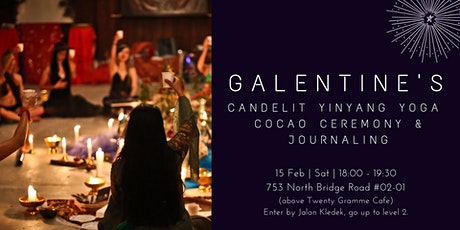 GALentine Candlelit Yoga Cocoa Ceremony & Journaling Workshop tickets