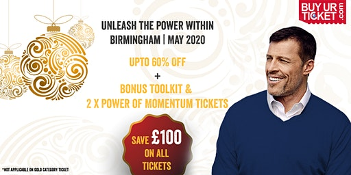 Tony Robbins Unleash the Power Within - Birmingham | 21-24 May, 2020