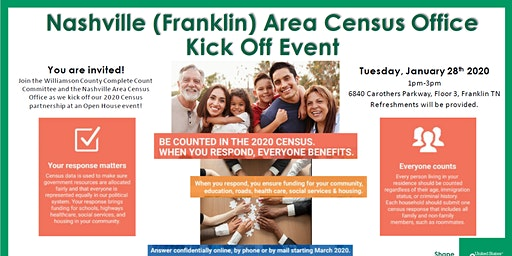 Nashville Area Census Office Kick Off Event- Open House