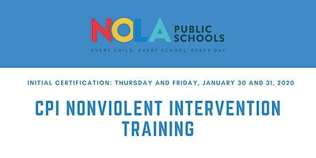 CPI Nonviolent Crisis Intervention Training tickets