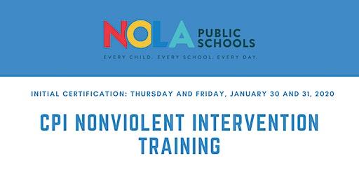 CPI Nonviolent Crisis Intervention Training