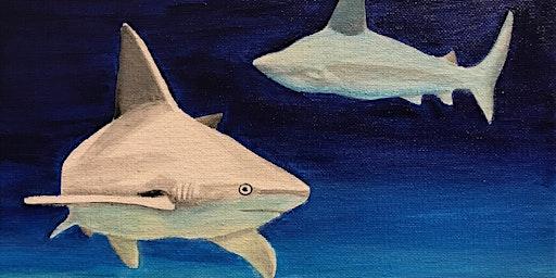 Kids & Grown-Ups Sharks Paint Party at Brush & Cork