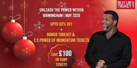 Tony Robbins Live in UPW Birmingham 2020 | Special Offers on Ruby Ticket tickets