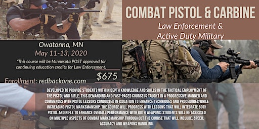 Combat Pistol & Carbine - MN (Law Enforcement/ Active Duty Military Only)
