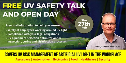 Free UV Light Safety Talk and Open Day