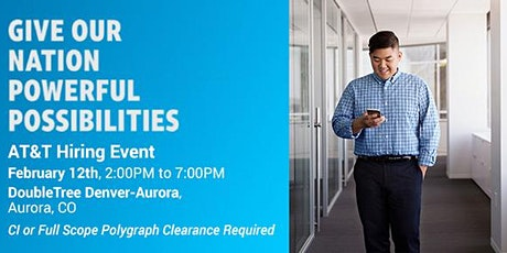 AT&T Hiring Event (CI or Full Scope Polygraph Clearance Required) tickets