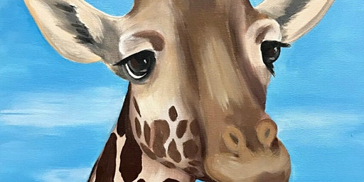 Giraffe Paint Party at Brush & Cork