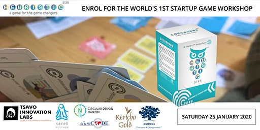 ENROL FOR THE WORLD'S 1ST STARTUP GAME WORKSHOP