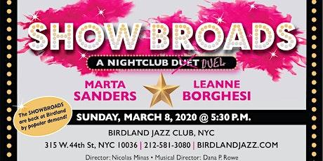 "Leanne Borghesi & Marta Sanders: ""SHOW BROADS"" tickets"