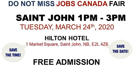 Saint John Job Fair - March 24th, 2020 tickets