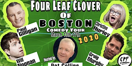 Four Leaf Clover Of Boston Comedy Tour at Cape Cod Irish Village Sun 3/15 tickets