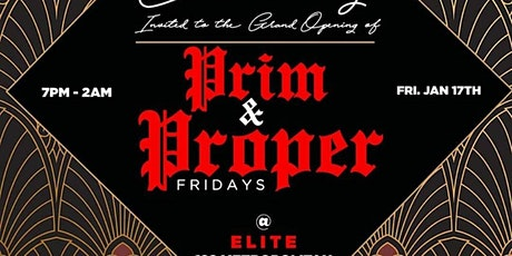 EVERY FRIDAY | PRIM & Proper FRIDAYS (7pm-2am) | Hosted by MTA Rocky tickets