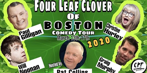 Four Leaf Clover Of Boston Comedy Tour at Peabody Black Box Tues 3/17