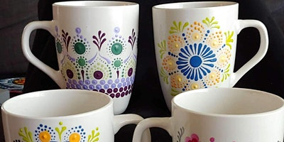Painting Coffee Cups with Mimosa Sunday Brunch at Brush & Cork