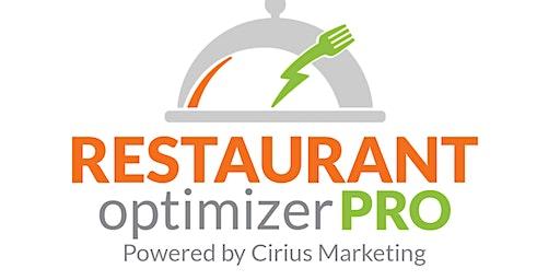 Restaurant Optimizer Pro Digital Marketing Workshop