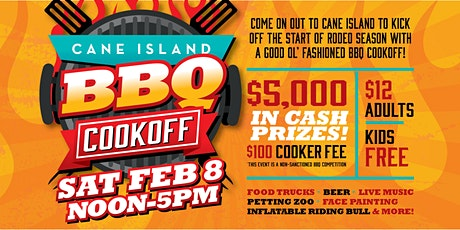 Cane Island BBQ Cookoff COOKING TEAMS ENTRY tickets