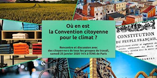 Où en est la Convention citoyenne pour le climat ?