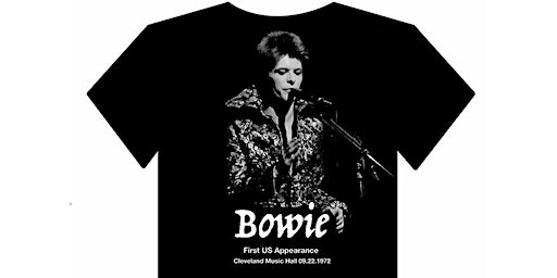 """""""Bowie in Cleveland"""" Vintage t-shirt"""