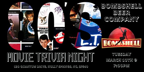 80s Movies Trivia at Bombshell Beer Company tickets