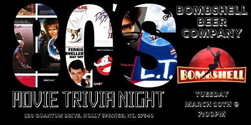 80s Movies Trivia at Bombshell Beer Company