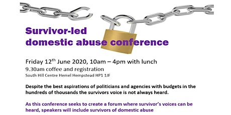 Survivor Led Domestic Abuse Conference tickets