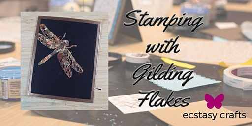 Stamping with Gilding Flakes