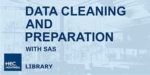 Data cleaning and preparation with SAS