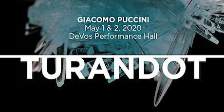 Opera Grand Rapids Pre-Show Dinner - Turandot - May 1, 2020 tickets