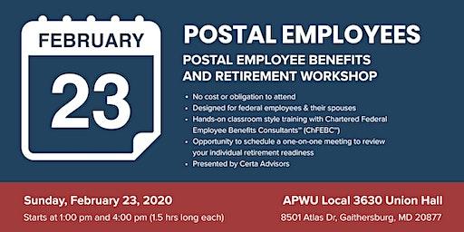 APWU 3630 Retirement Workshop in Gaithersburg, MD