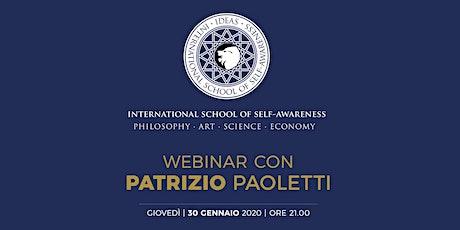 Webinar con Patrizio Paoletti biglietti
