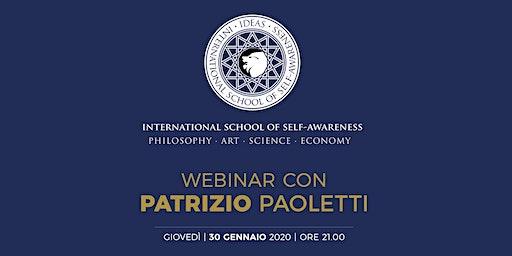 Webinar con Patrizio Paoletti