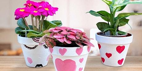 Valentines Workshop for Kids -  Painted Flower Pot: Frankfort, IL tickets