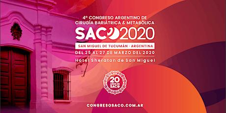 IV Congreso SACO 2020 - San Miguel de Tucumán (Internacional) entradas