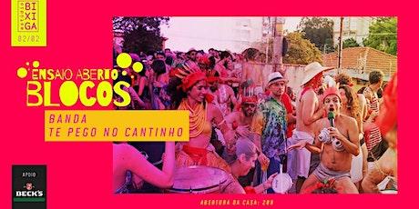02/02 - ENSAIO ABERTO | BANDA TE PEGO NO CANTINHO NO ESTÚDIO BIXIGA ingressos