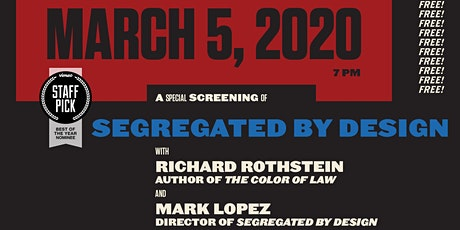 'Segregated By Design' Special Screening tickets
