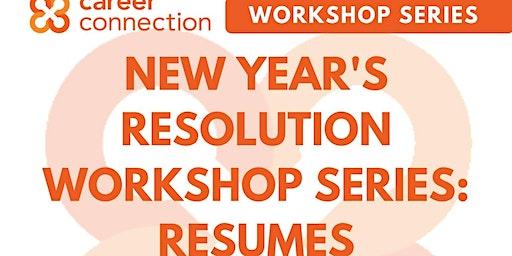 New Year's Resolution Workshop Series: Resume