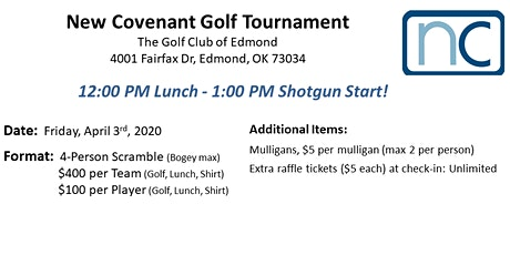 New Covenant Golf Tournament tickets