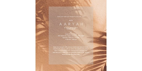 AARYAH X Taïla Skincare trunk show at Lunya in Williamsburg tickets
